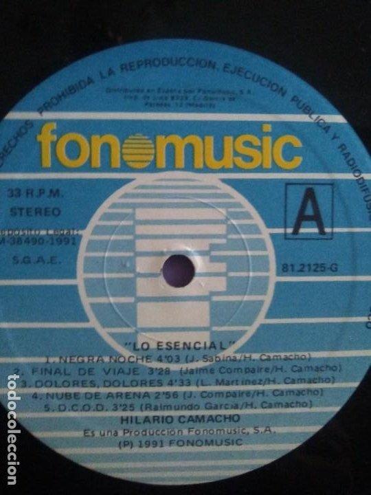 Discos de vinilo: JOYA DOBLE LP ORIGINAL RECOPILACION - Hilario Camacho - Lo esencial - 81.2125 Fonomusic AÑO 1991 - Foto 25 - 206479971