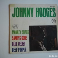 Discos de vinilo: JOHNNY HODGES MONKEY SHACK / BLUE VELVET + 2 (EP VERVE, 7EPL 14042) 1964. Lote 206481906