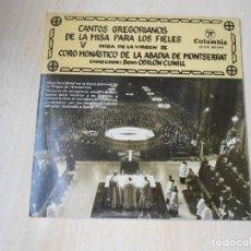 Discos de vinilo: CORO MONÁSTICO DE LA ABADÍA DE MONTSERRAT, EP, KYRIE + 3, AÑO 1959. Lote 206482167