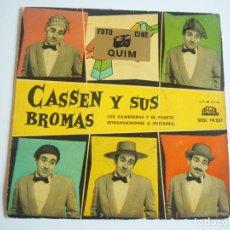 Discos de vinilo: CASSEN Y SUS BROMAS EP SELLO REGAL AÑO 1959. Lote 206482982