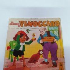 Discos de vinilo: CUENTO EN FRANCES, LA NAISANCE DE PINOCCHIO.. Lote 206485256