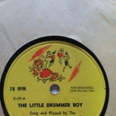 Discos de vinilo: THE LITTLE, DRUMMER BOY, AGENTE FIELES, PETER PAN RECORDS, RECORDS, U.S.A.. Lote 206485852