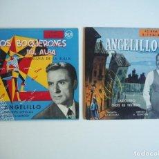 Discos de vinilo: ANGELILLO EPS LOS BOQUERONES DEL ALBA + 3 (RCA, 3-14011, 1956) / FAROLELO+ 3 (RCA, 3-14018, 1957). Lote 206487312