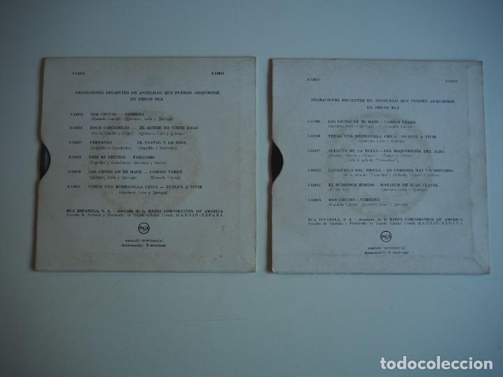 Discos de vinilo: ANGELILLO EPs Los Boquerones del alba + 3 (RCA, 3-14011, 1956) / Farolelo+ 3 (RCA, 3-14018, 1957) - Foto 2 - 206487312