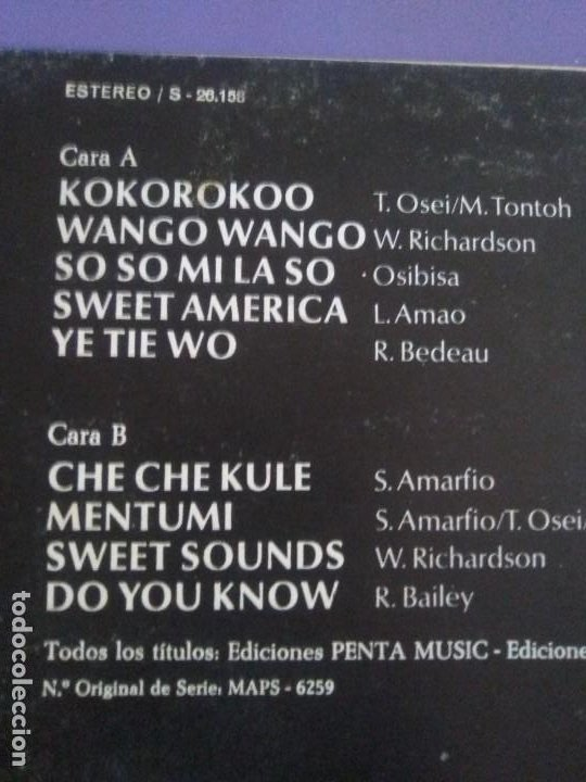 Discos de vinilo: JOYA LP FUNK ORIGINAL 1972 . OSIBISA - HEADS. SPAIN. MCA S 26.138 PORTADA ABIERTA. - Foto 14 - 206487673