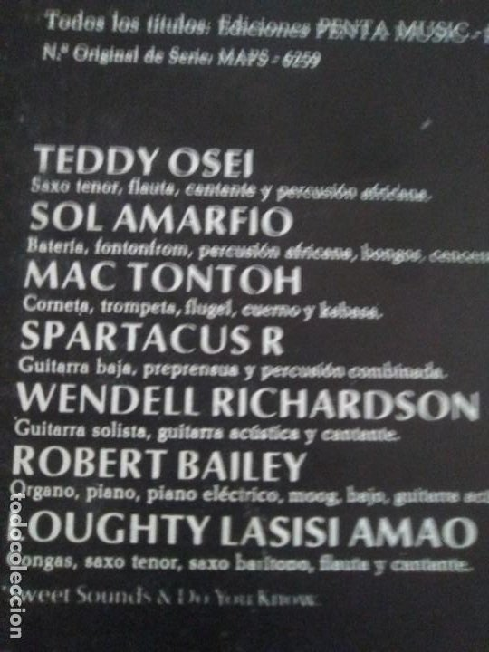 Discos de vinilo: JOYA LP FUNK ORIGINAL 1972 . OSIBISA - HEADS. SPAIN. MCA S 26.138 PORTADA ABIERTA. - Foto 15 - 206487673