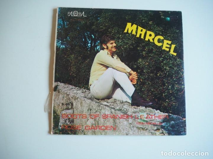 Discos de vinilo: MARCEL (MARCEL Y MICHELLE) - BOOTS OF SPANISH LEATHER (BOB DYLAN) PALOBAL S-99 (1970) - Foto 2 - 206488757