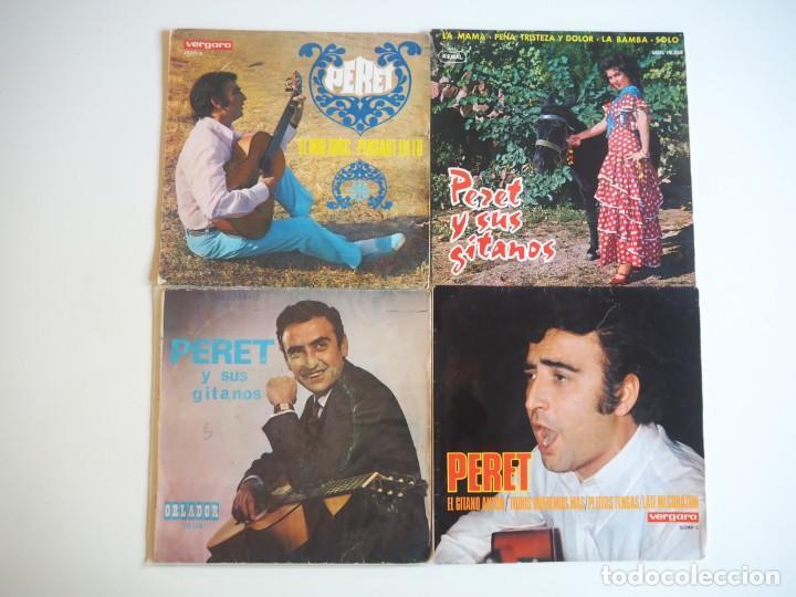 LOTE PERET 3 EPS Y 1 SINGLE (1960-1967) OPORTUNIDAD (Música - Discos de Vinilo - EPs - Solistas Españoles de los 50 y 60)
