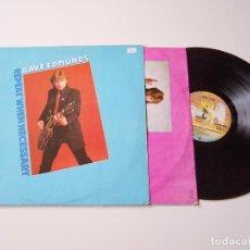 Discos de vinilo: DAVE EDMUNDS. REPEAT WHEN NECESARY. ENCARTE. LP. ROCKPILE, NICK LOWE. Lote 206491078