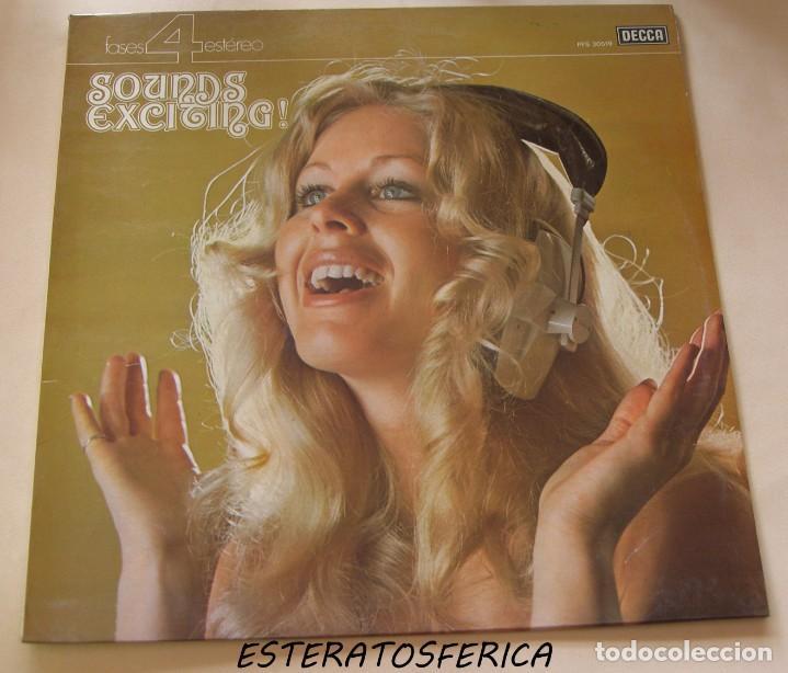 'SOUNDS EXCITING !'. TEMAS CLÁSICOS DEL CINE. - DECCA SPAIN 1976 (Música - Discos - LP Vinilo - Bandas Sonoras y Música de Actores )