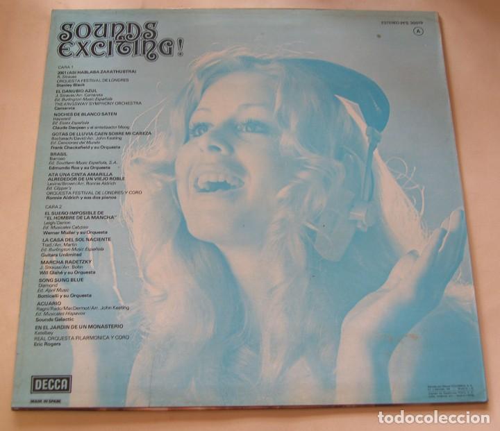 Discos de vinilo: Sounds Exciting !. Temas clásicos del cine. - DECCA SPAIN 1976 - Foto 2 - 206492462