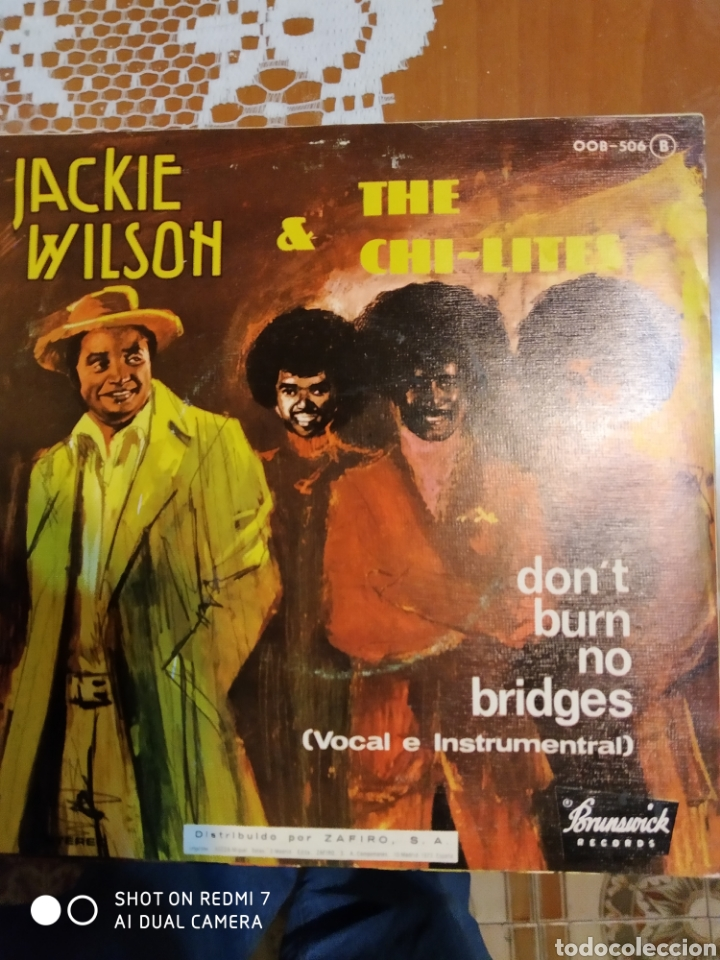 Discos de vinilo: Jackie Wilson & the Chi- lites. Dont burn no bridges. - Foto 2 - 206495312