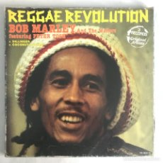 Discos de vinilo: REGGAE REVOLUTION, DILLINGER, MARLEY, COCONUT AIRLINE BOX 3LPS. Lote 206495531
