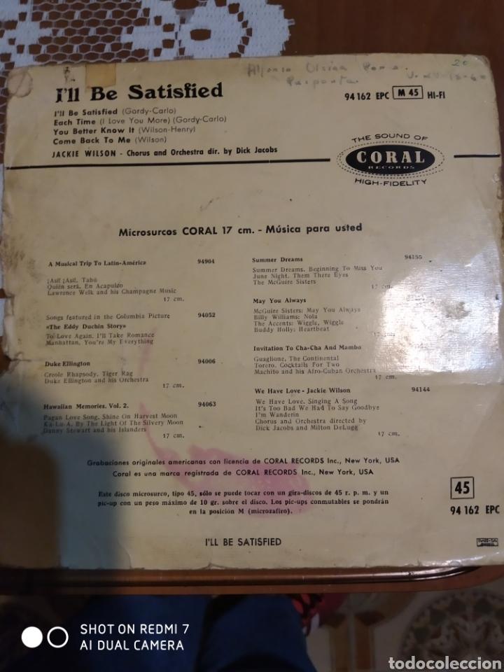 Discos de vinilo: Jackie Wilson. Ill be satisfied. EP - Foto 3 - 206504898