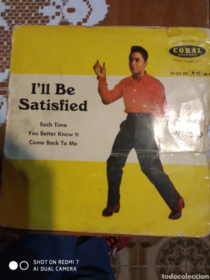 JACKIE WILSON. I'LL BE SATISFIED. EP (Música - Discos de Vinilo - EPs - Jazz, Jazz-Rock, Blues y R&B)
