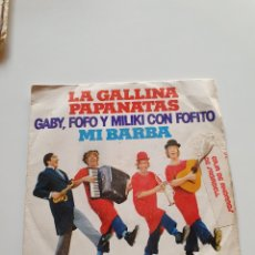 Discos de vinilo: GABY, FOFO Y MILIKI CON FOFITO, LA GALLINA PAPANATAS, MI BARBA.. Lote 206506723