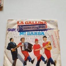 Discos de vinilo: GABY, FOFO Y MILIKI CON FOFITO, LA GALLINA PAPANATAS, MI BARBA.. Lote 206506786