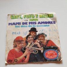 Discos de vinilo: GABY, FOFO Y MILIKI CON FOFITO, MAMI DE MIS AMORES, LOS DÍAS DE LA SEMANA.. Lote 206506948