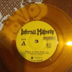 Discos de vinilo: INFERNAL MAJESTY. WHERE IS YOUR GOD? GENÉRICO .. Lote 206508296