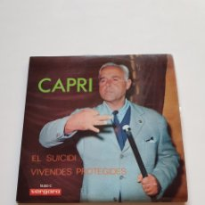 Discos de vinilo: JOAN CAPRI, EL SUICIDI, VIVENDES PROTEGIDES, VERGARA.. Lote 206508541