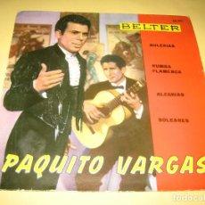 Discos de vinilo: PAQUITO VARGAS. Lote 206509296