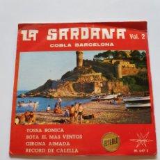 Discos de vinilo: LA SARDANA VOL. 2, COBLA BARCELONA, TOSSA BONICA, SOTA EL MÁS VENTOS, GIRONA AIMADA, RÉCORD DE CALEL. Lote 206510413