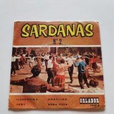 Discos de vinilo: SARDANAS N° 2, LLEVANTINA, JUNY, ANGELINA, BONA FESTA, COBLA ORLADOR.. Lote 206510975