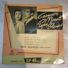 Discos de vinilo: CARMEN MORELL Y PEPE BLANCO - BUENO Y QUE + 3. Lote 206519663