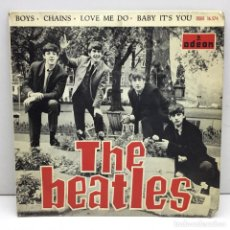 Discos de vinilo: SINLGE - VINILO - THE BEATLES - ADEON - BOYS - CAHINS - LOVE ME DO - BABY IT'S YOU - AÑO 1964. Lote 206525656