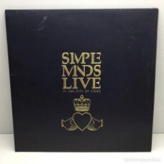 Discos de vinilo: DOBLE LP - VINILO - SIMPLE MINDS LIVE - IN THE CITY OF LIGHT - AÑO 1987. Lote 206528505
