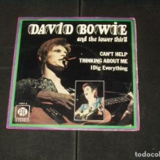 Discos de vinilo: DAVID BOWIE AND THE LOWER THIRD SINGLE CAN'T HELPTHINKING ABOUT ME. Lote 206533130