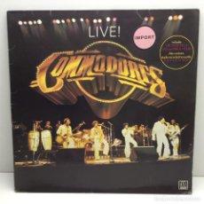 Discos de vinilo: DOBLE LP - VINILOS - DISCOS - COMMODORES - LIVE - ORIGINAL U.S.A. - STEREO - AÑO 1977. Lote 206538960