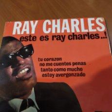 Discos de vinilo: RAY CHARLES. TU CORAZÓN EP. Lote 206540515