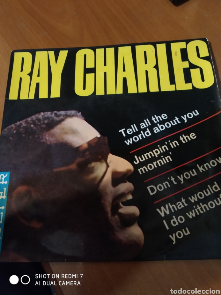 RAY CHARLES. TELL ALL THE WORLD ABOUT YOU. (Música - Discos de Vinilo - EPs - Jazz, Jazz-Rock, Blues y R&B)
