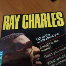 Discos de vinilo: RAY CHARLES. TELL ALL THE WORLD ABOUT YOU.. Lote 206542171
