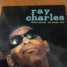 Discos de vinilo: RAY CHARLES. HIT THE ROAD JACK. THE DANGER ZONE.. Lote 206543411