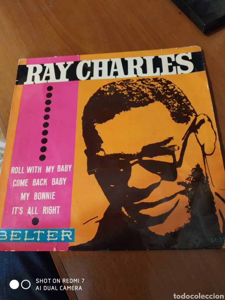 RAY CHARLES. ROLL WITH MY BABY.EP (Música - Discos de Vinilo - EPs - Jazz, Jazz-Rock, Blues y R&B)