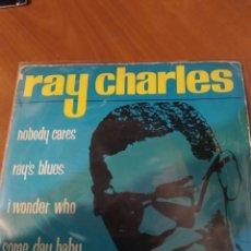 Discos de vinilo: RAY CHARLES. NOBODY CARES.. Lote 206545937