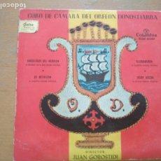 Discos de vinilo: CORO DE CÁMARA DEL ORFEON DONOSTIARRA - UME EDER BAT / BOGA BOGA / BI EUSKO ABESTI - EP 1959. Lote 206552621