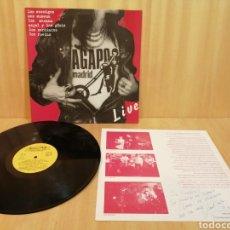 Discos de vinilo: AGAPO LIVE VOL 1. LOS ENEMIGOS, SEX MUSEUM, LOS MACANA, ANGEL Y LOS GUAIS, LOS CARDÍACOS, LAS RUEDAS. Lote 206556311