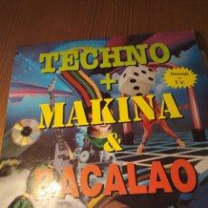 Discos de vinilo: DOBLE DISCO VINILO LPTCHNO + MAKINA + BACALAO. Lote 206560043