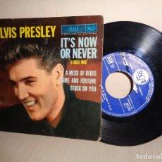Discos de vinilo: ELVIS PRESLEY ITS NOW OR NEVER -RCA -PARIS -. Lote 206562222