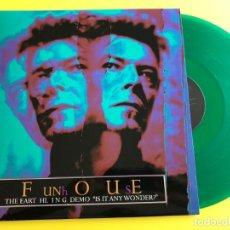 Discos de vinilo: DAVID BOWIE - FUNHOUSE: THE EARTHLING DEMO IS IT ANYWONDER? - LP PROMO RARE. Lote 206562300