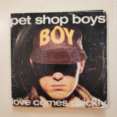 Discos de vinilo: NT PET SHOP BOYS - LOVE COMES QUICKLY 1986 PROMO PROMOCIONAL SPAIN SINGLE VINILO. Lote 206566132