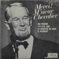 Discos de vinilo: MAURICE CHEVALIER// MA POMME+3// 1965// VEGA FRANCE. Lote 206572171