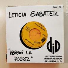 Discos de vinilo: NT LETICIA SABATER - ABREME LA PUERTA 1993 PROMO PROMOCIONAL SINGLE VINILO SPAIN. Lote 206573726