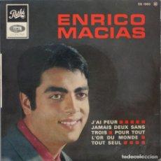 Discos de vinilo: ENRICO MACIAS// JÁI PEUR+3//EP// PATHÉ FRANCE. Lote 206574535