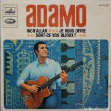 Discos de vinilo: ADAMO// INCH´ ALLAH+3// EP// LE VOIX DE SON MAITRE FRANCE. Lote 206575478