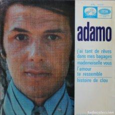 Discos de vinilo: ADAMO// J´AI TAN DE REVES DANS MES BAGAGES+3//EP// 1968// LA VOZ DE SU AMO. Lote 206575911