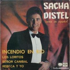Discos de vinilo: SACHA DISTEL// INCENDIO EN RIO+3//EP// 1967// LA VOZ DE SU AMO. Lote 206576908